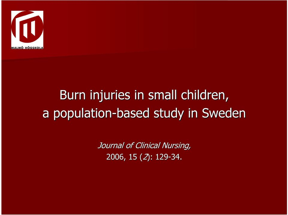 study in Sweden Journal of