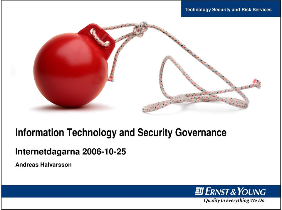 and Security Governance