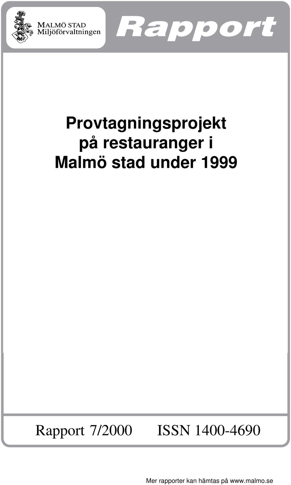 1999 Rapport 7/000 ISSN