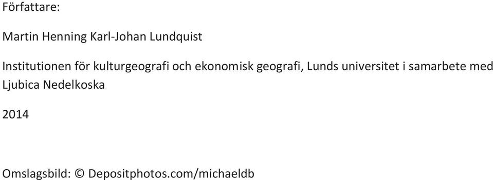 geografi, Lunds universitet i samarbete med