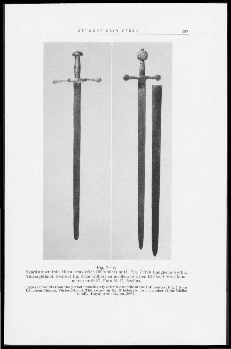Types of swords from the period immediately after the middle ot the 16lh centry. Tig.