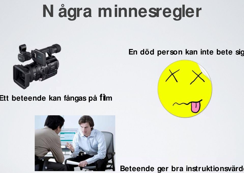 minnesregler En död person