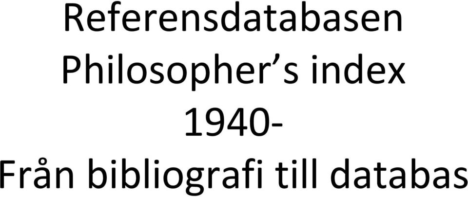 index 1940 Från