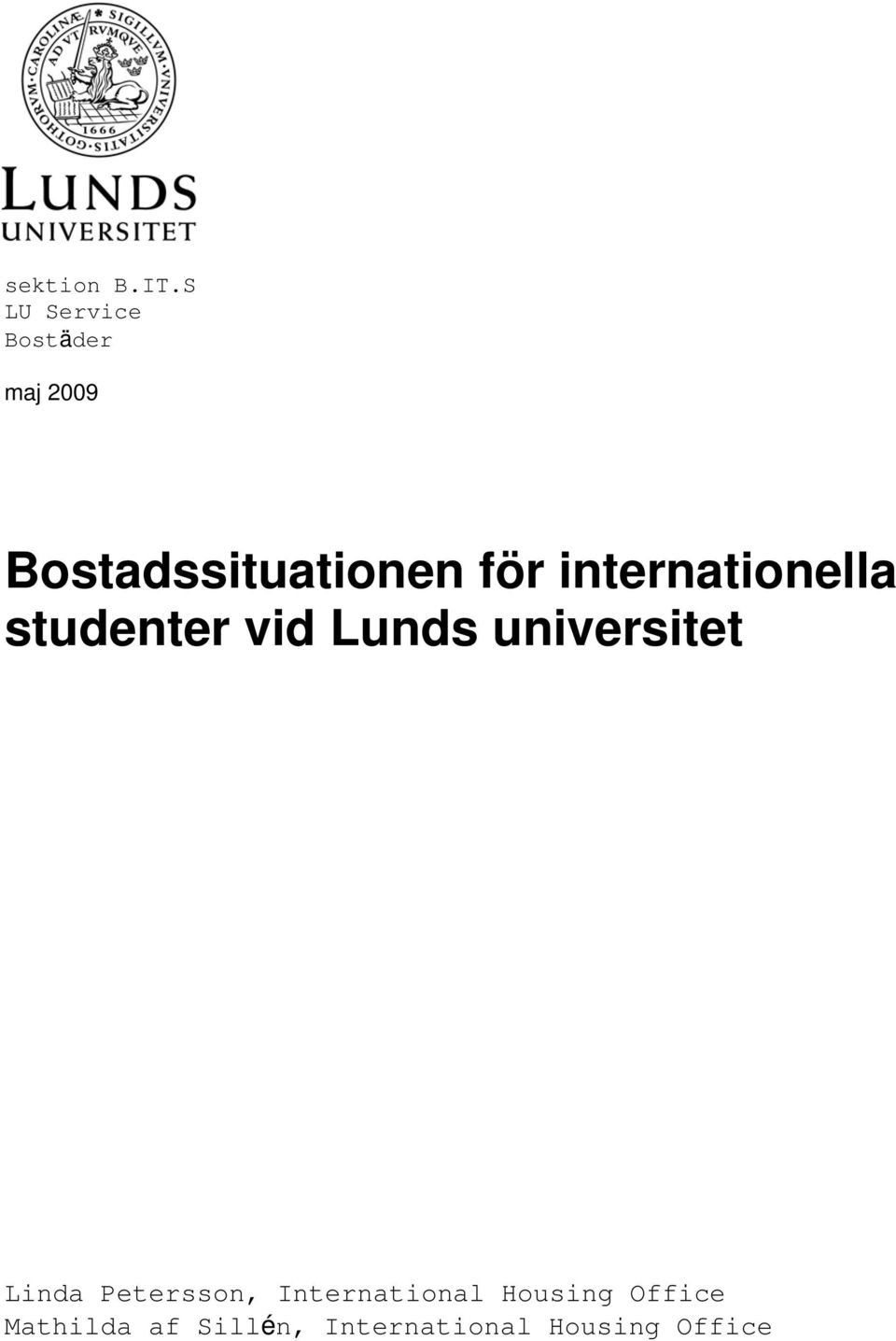för internationella studenter vid Lunds universitet