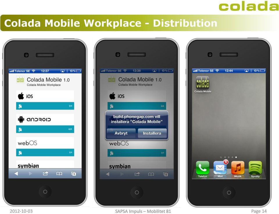 BACK-END SYSTEM Colada Mobile