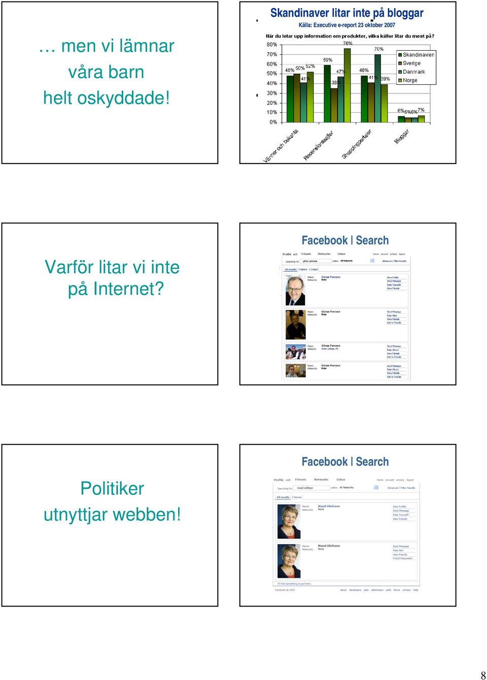e-report 23 oktober 2007 Facebook Search Varför