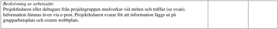 Information lämnas även via e-post.