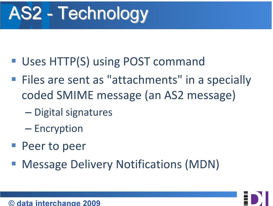 SMIME message (an AS2 message) Digital signatures