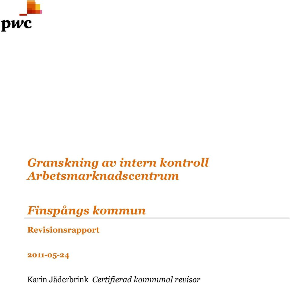 Revisionsrapport 2011-05-24