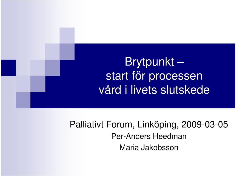Palliativt Forum, Linköping,