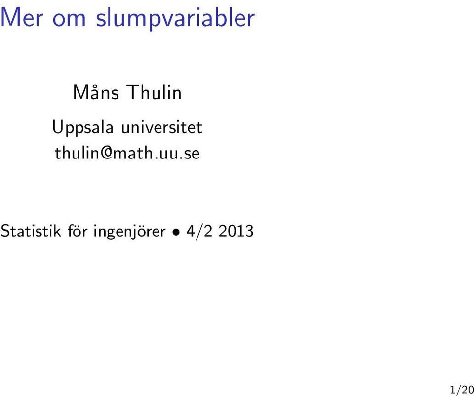 universitet thulin@math.uu.