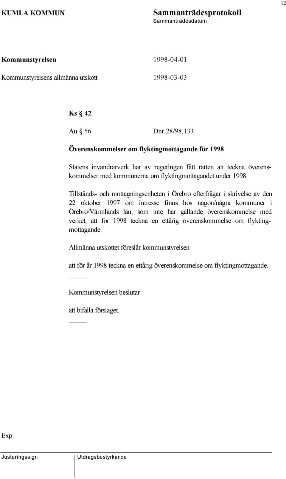 flyktingmottagandet under 1998.