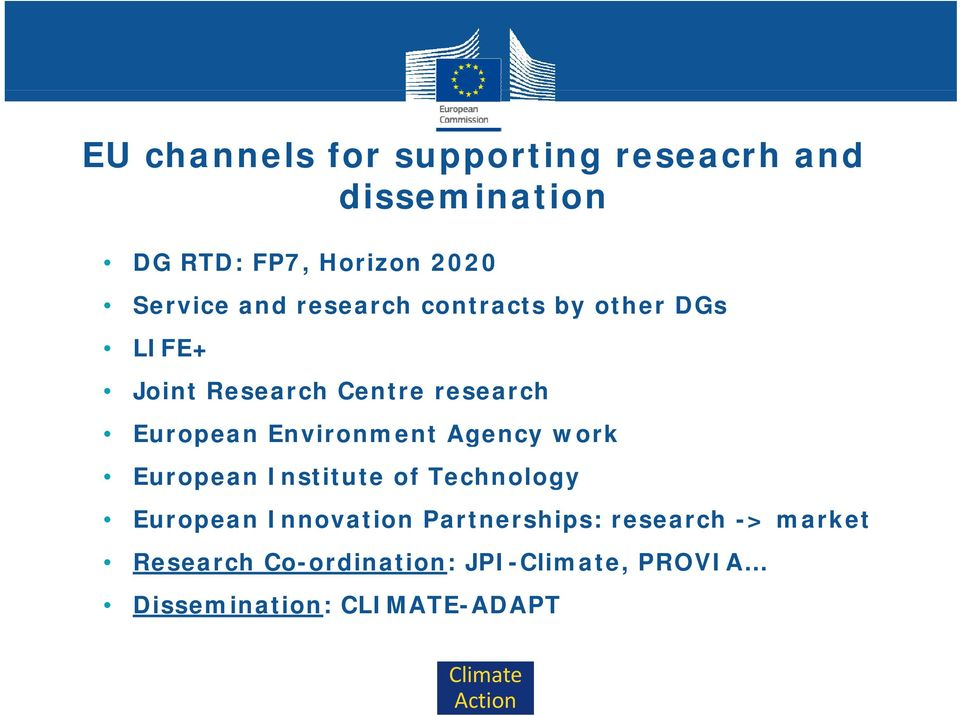 European Environment Agency work European Institute of Technology European Innovation