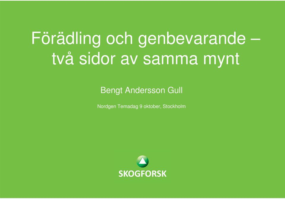 Bengt Andersson Gull