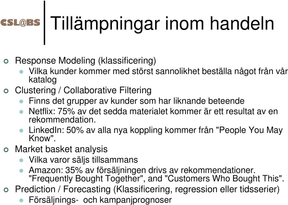 "LinkedIn: 50% av alla nya koppling kommer från ""People You May Know""."
