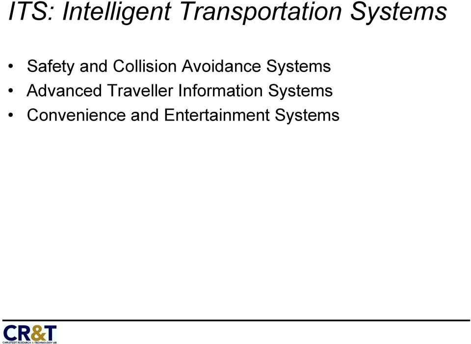 Systems Advanced Traveller Information