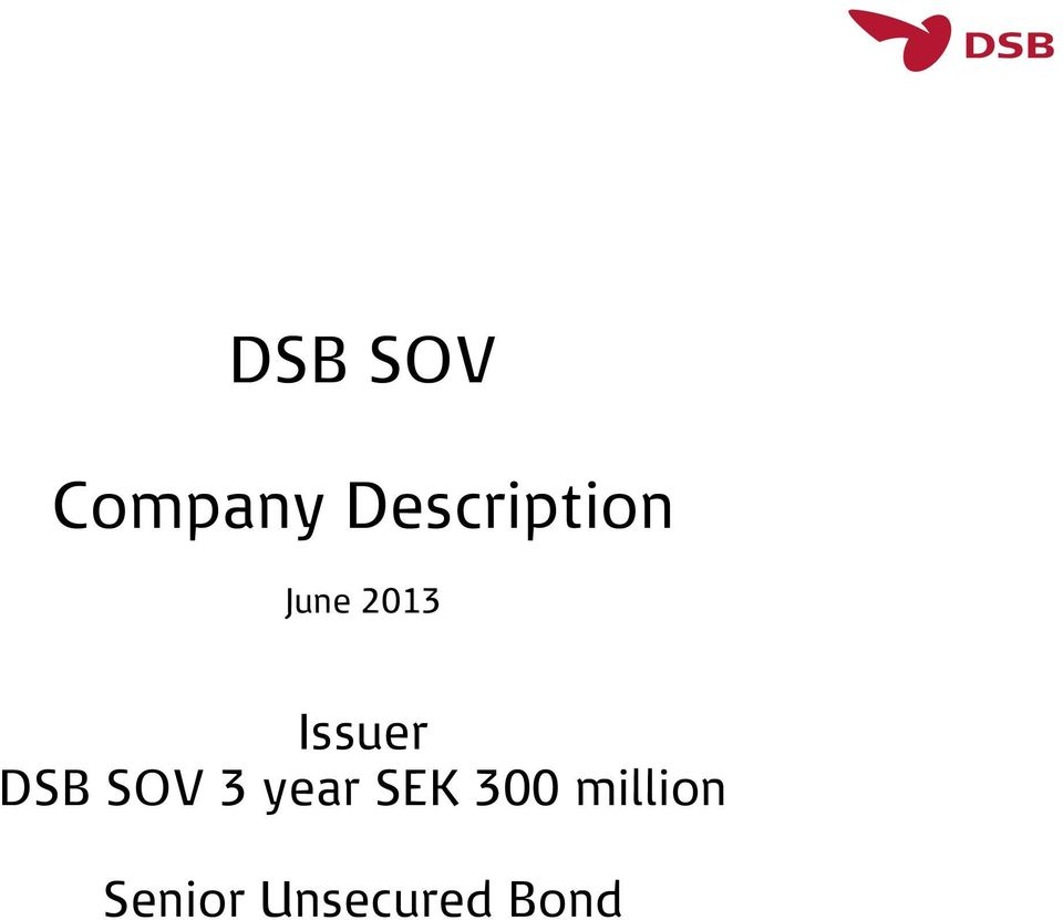 Issuer DSB SOV 3 year