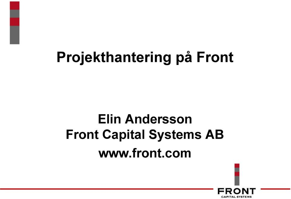 Andersson Front