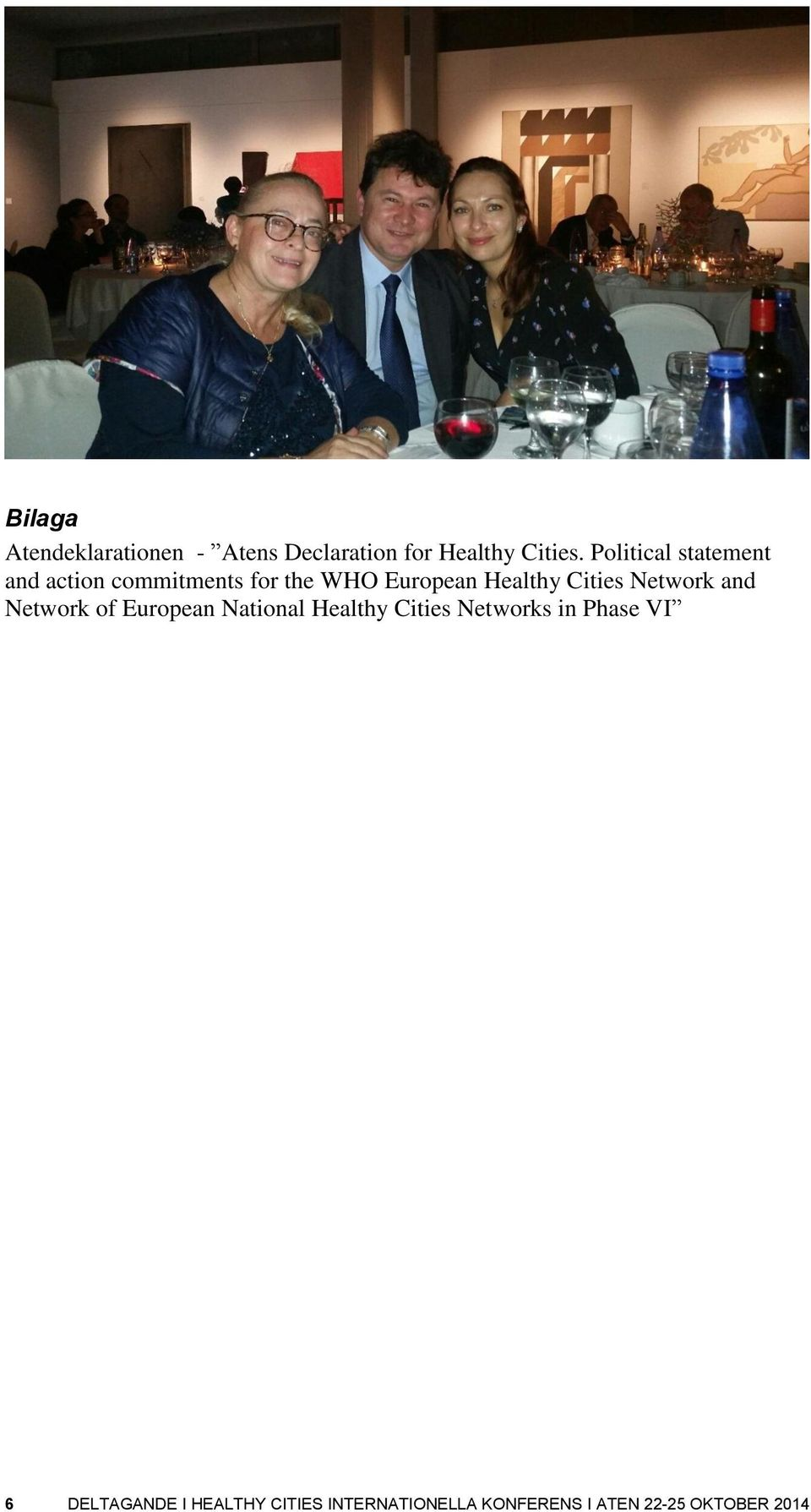Cities Network and Network of European National Healthy Cities Networks in