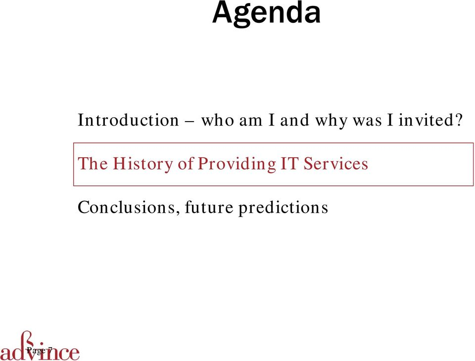 The History of Providing IT Services
