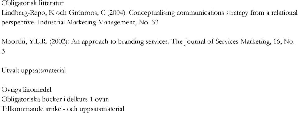 (2002): An approach to branding services. The Journal of Services Marketing, 16, No.
