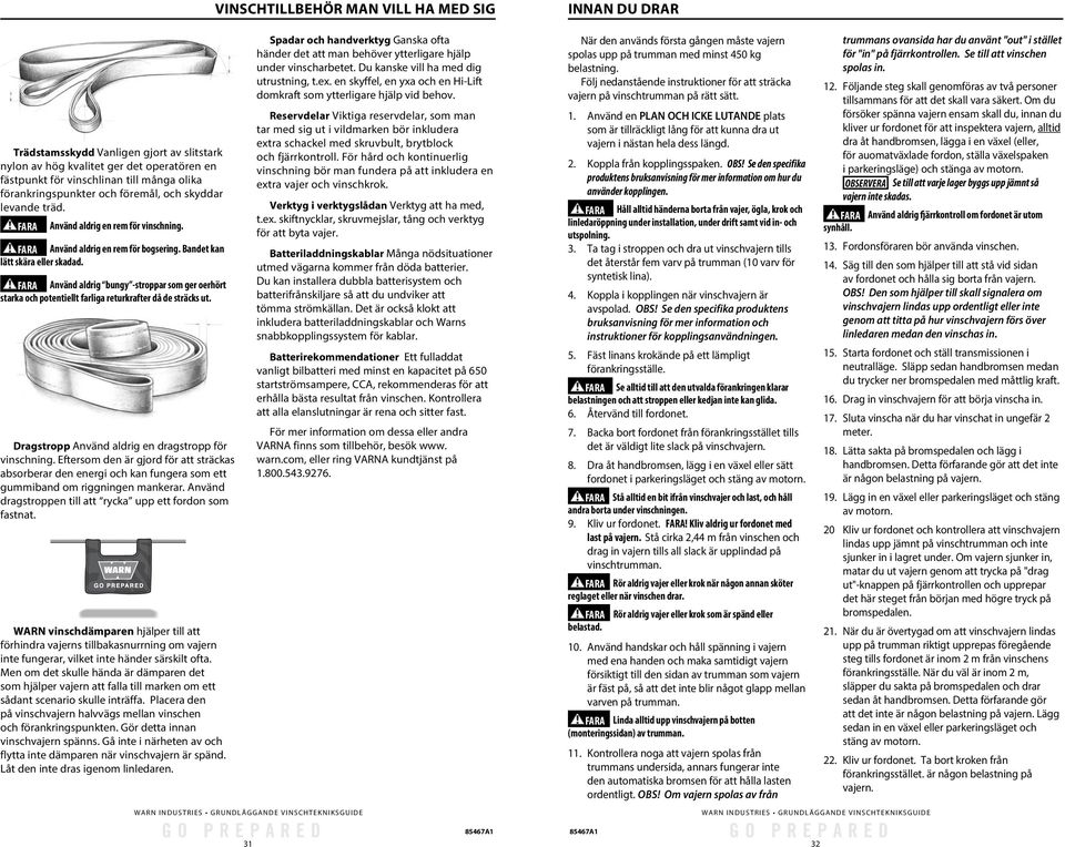 warn winch line basic guide to winching techniques  of