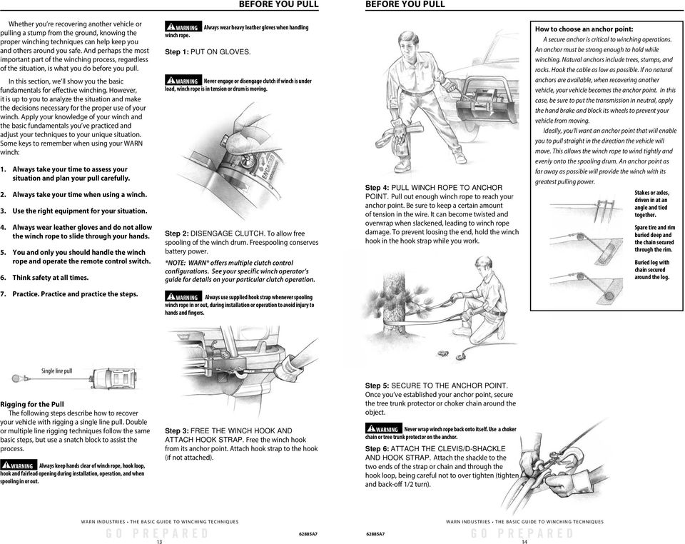 winch tech the basic guide to winching techniques by warn