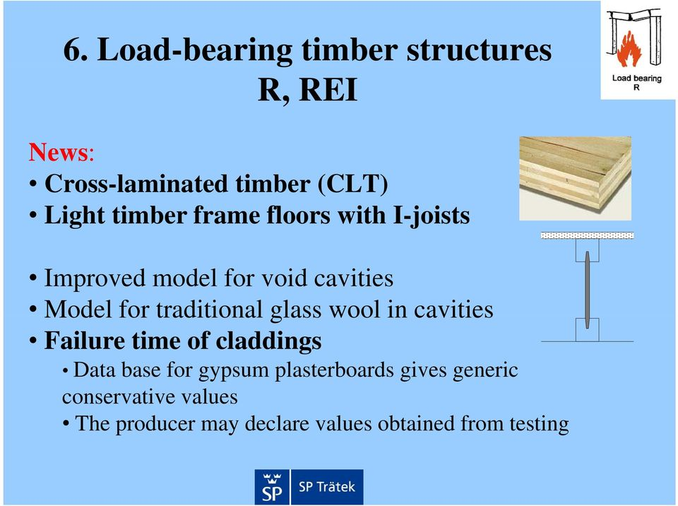 traditional glass wool in cavities Failure time of claddings Data base for gypsum