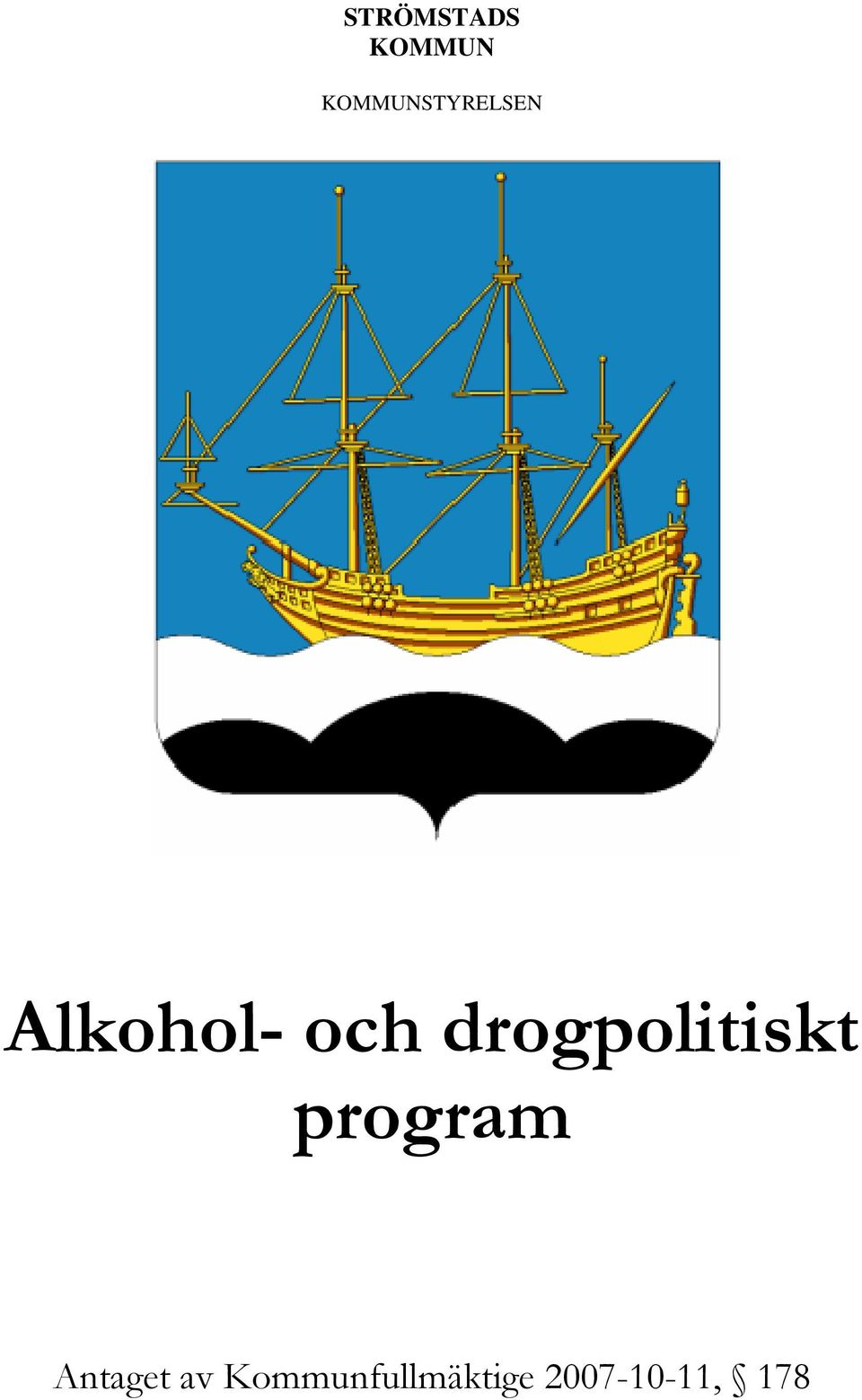 drogpolitiskt program