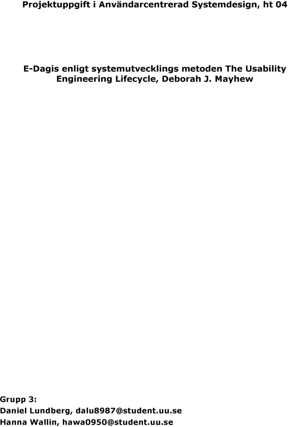 Engineering Lifecycle, Deborah J.