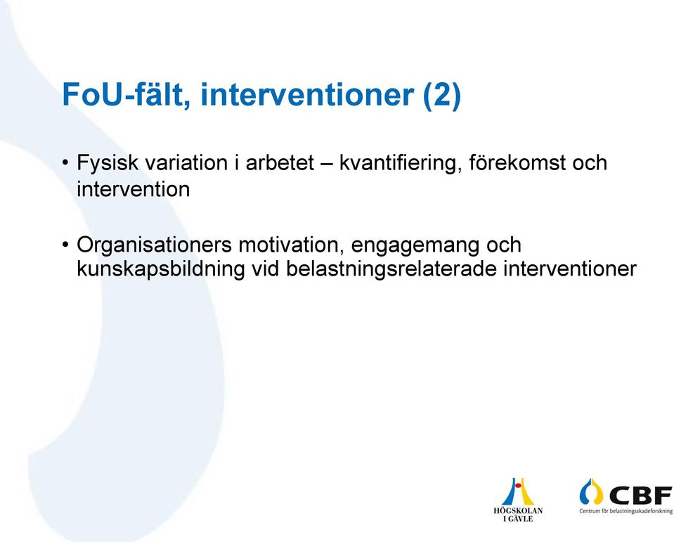 Organisationers motivation, engagemang och
