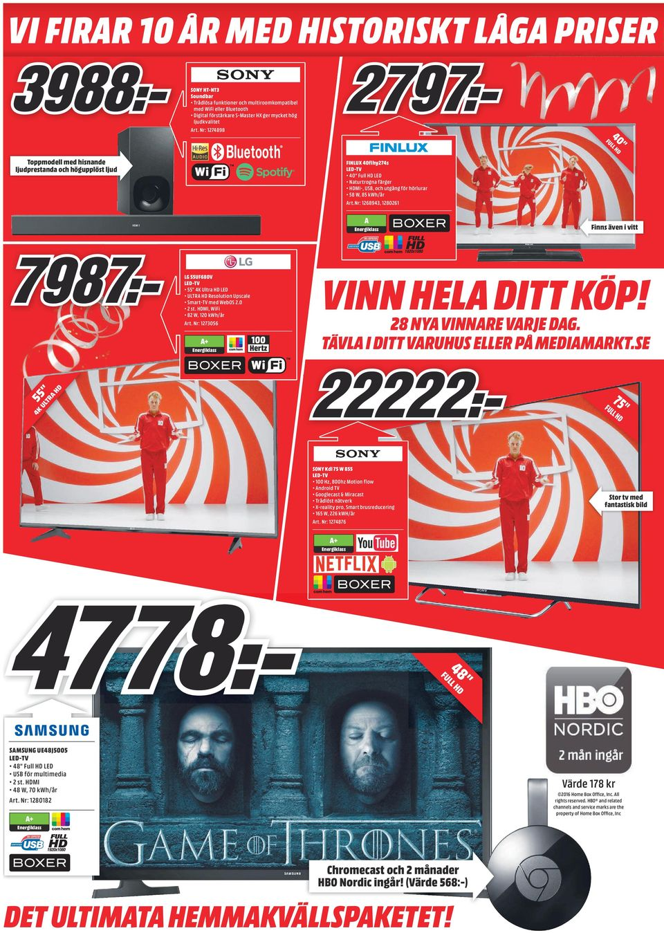 Nr: 1268943, 1280261 A Finns även i vitt LG 55UF680V LED-TV 55 4K Ultra HD LED ULTRA HD Resolution Upscale Smart-TV med WebOS 2.0 2 st. HDMI, WiFi 82 W, 120 kwh/år Art.