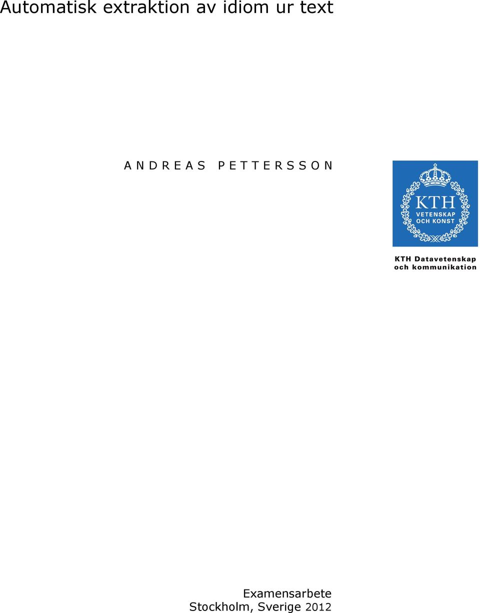 ANDREAS PETTERSSON
