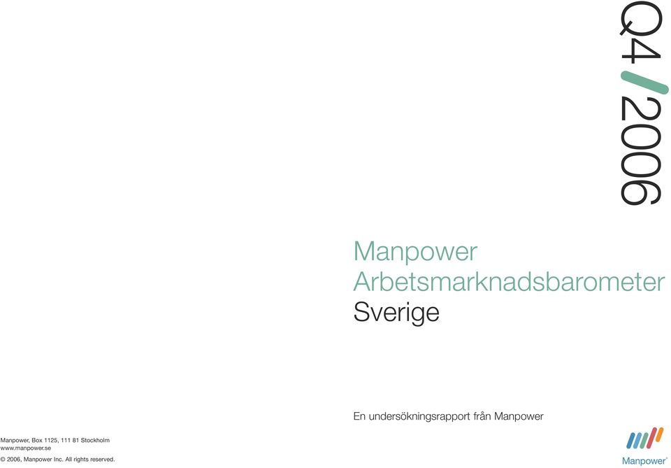 Manpower Manpower, Box 1125, 111 81