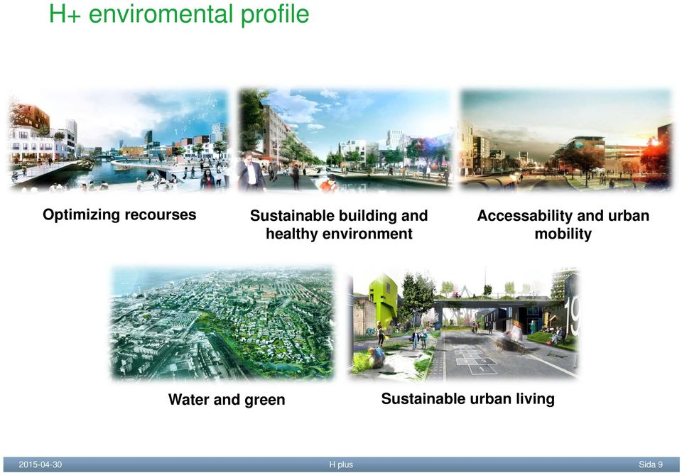 Accessability and urban mobility Water and