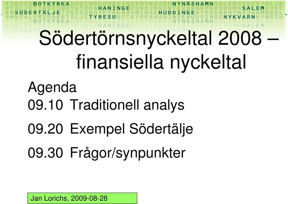 10 Traditionell analys 09.