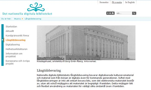 kirjasto) NDB (nationella digitala biblioteket) -