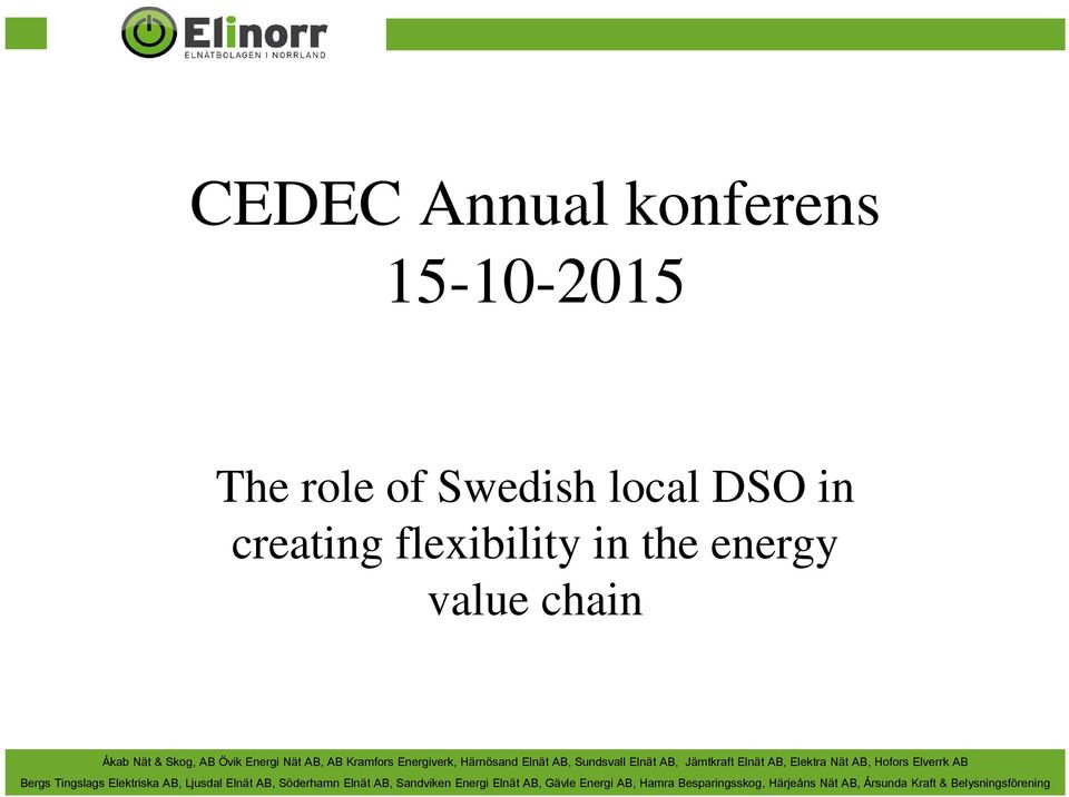 Swedish local DSO in