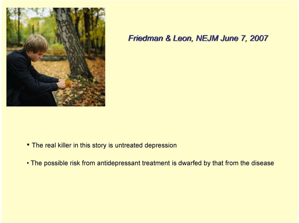 depression The possible risk from