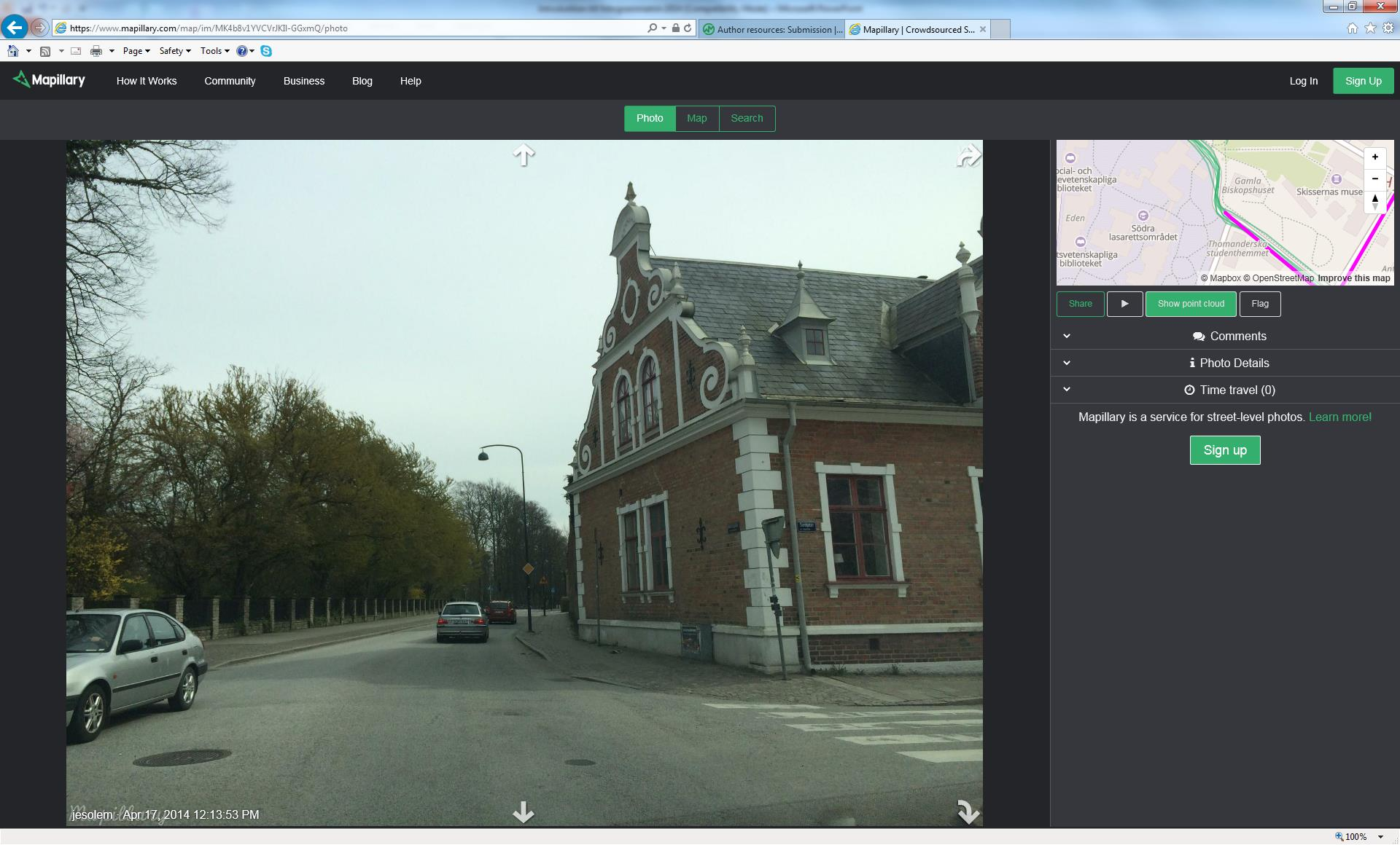 Mapillary crowdsourced
