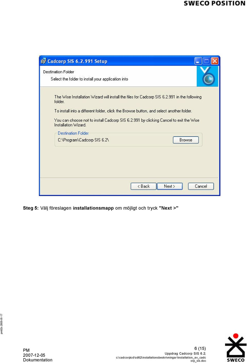 installationsmapp