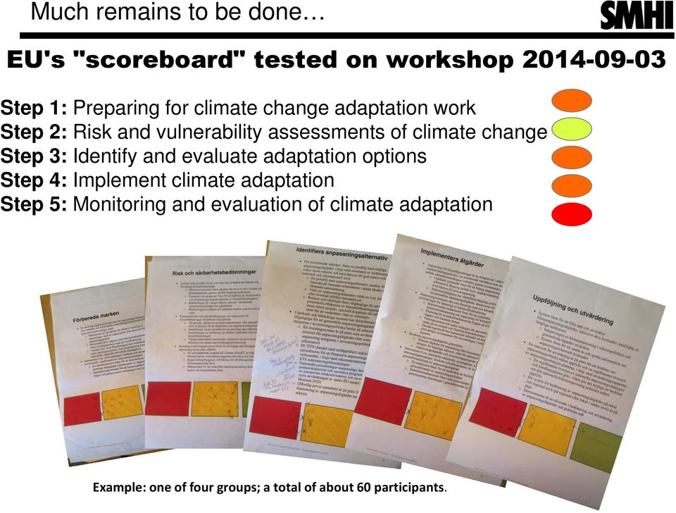 3: Identify and evaluate adaptation options Step 4: Implement climate adaptation Step 5:
