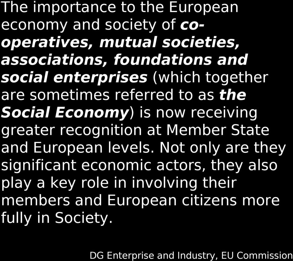 recognition at Member State and European levels.