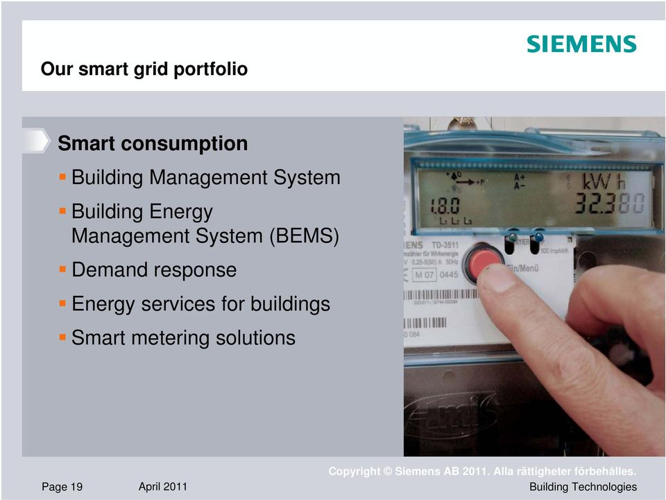Management System (BEMS) Demand response Energy