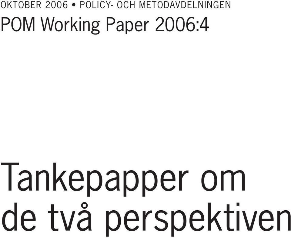Working Paper 2006:4