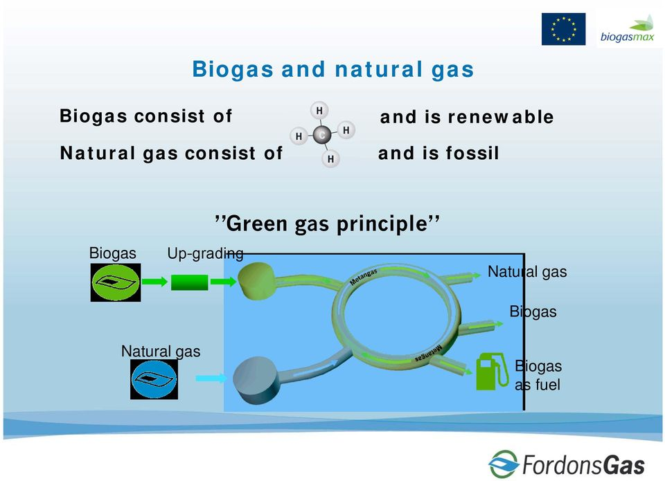 and is fossil Biogas Green gas principle