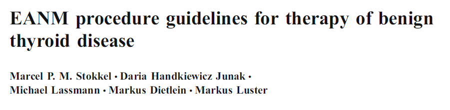 EANM Guidelines