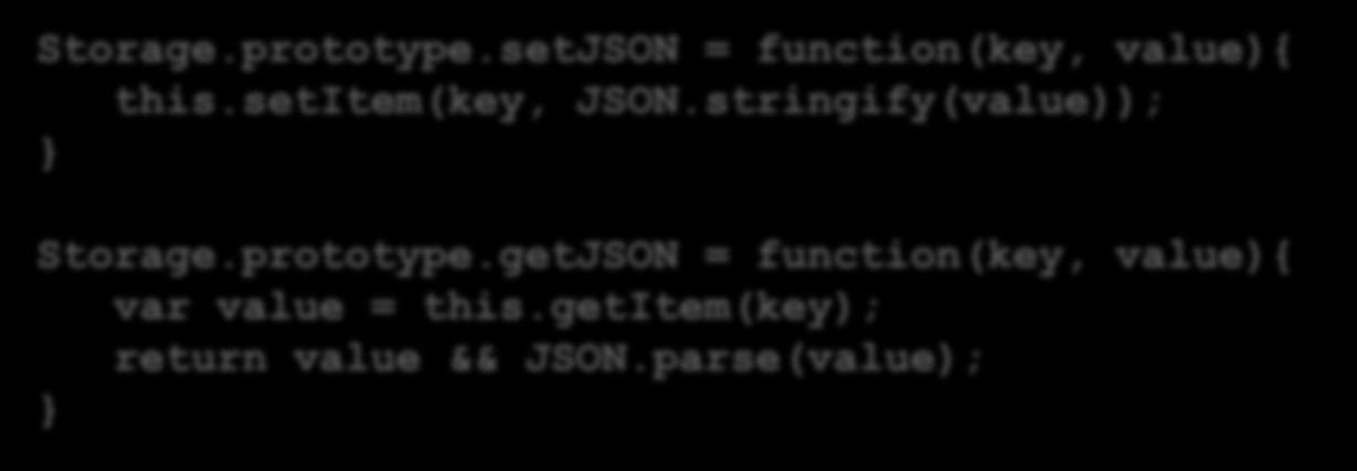 prototype.getJSON = function(key, value){ var value = this.