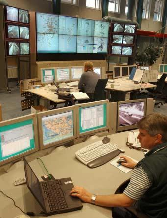The traffic centre helps to increase mobility traffic