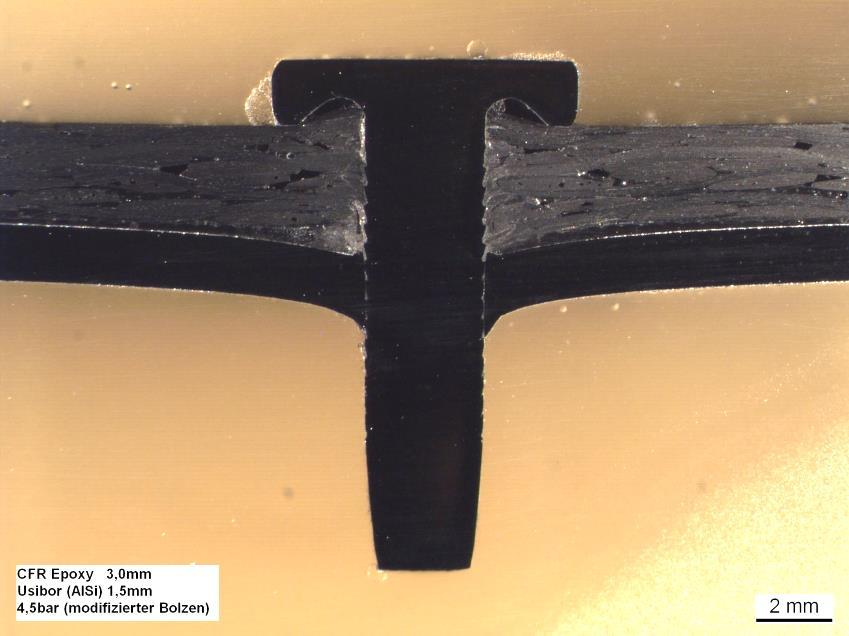 Specimen type Crosssection view Joining test Materials 1: CFRP with epoxy matrix,